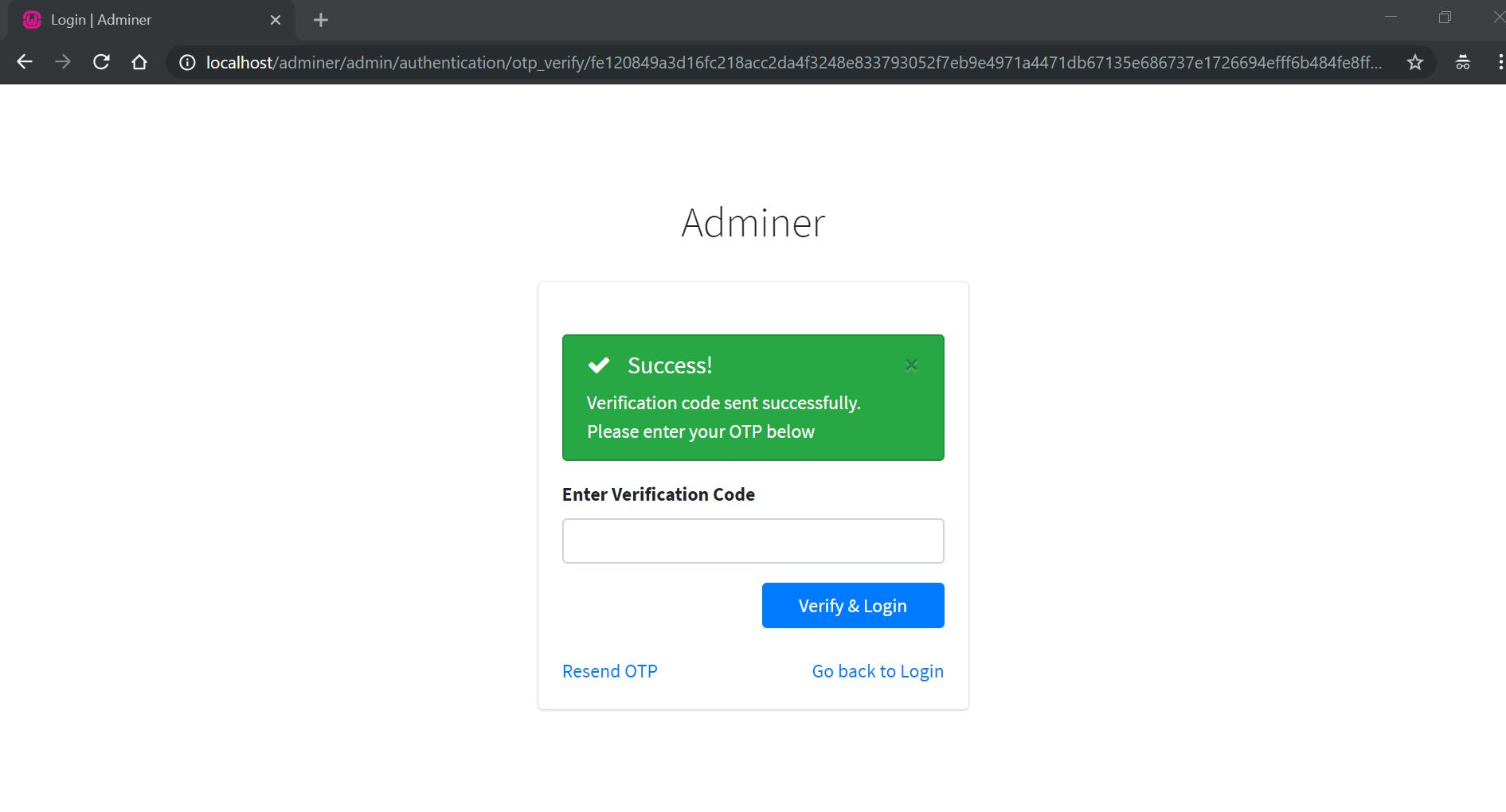 Adminer - PHP Authentication And User Management Screenshot 7