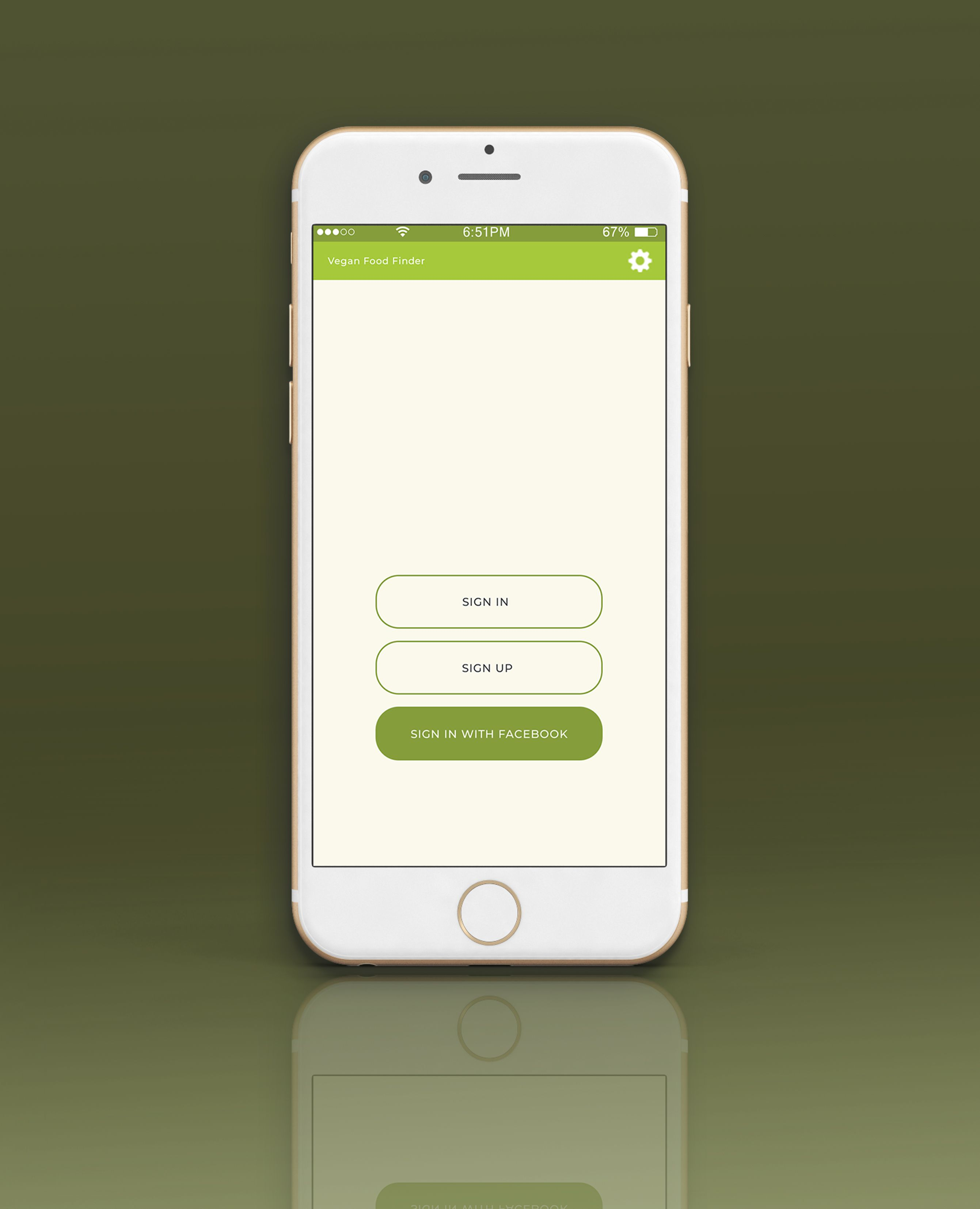 Mobile Vegan Food Finder App - 6  PSD Templates  Screenshot 3