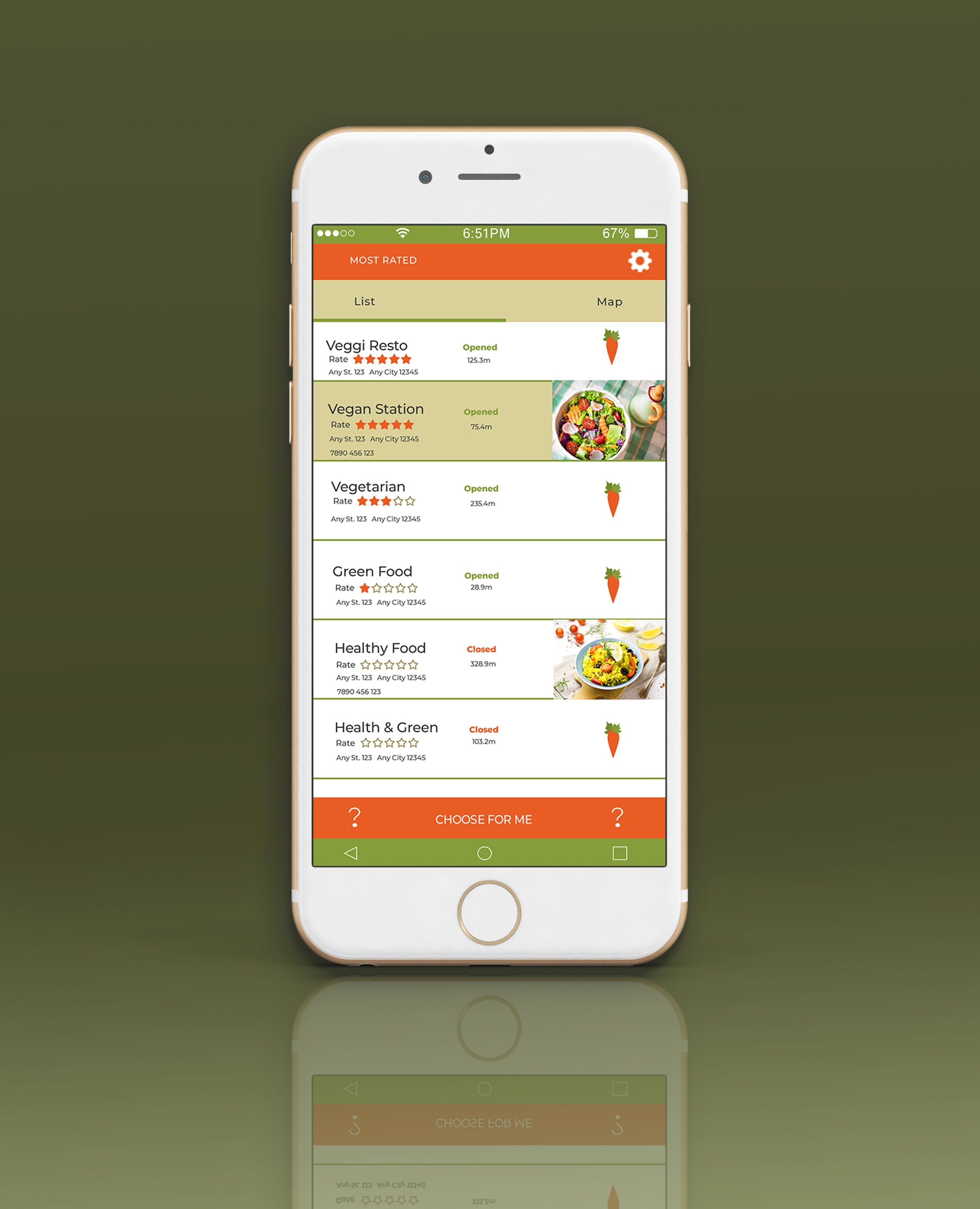 Mobile Vegan Food Finder App - 6  PSD Templates  Screenshot 4