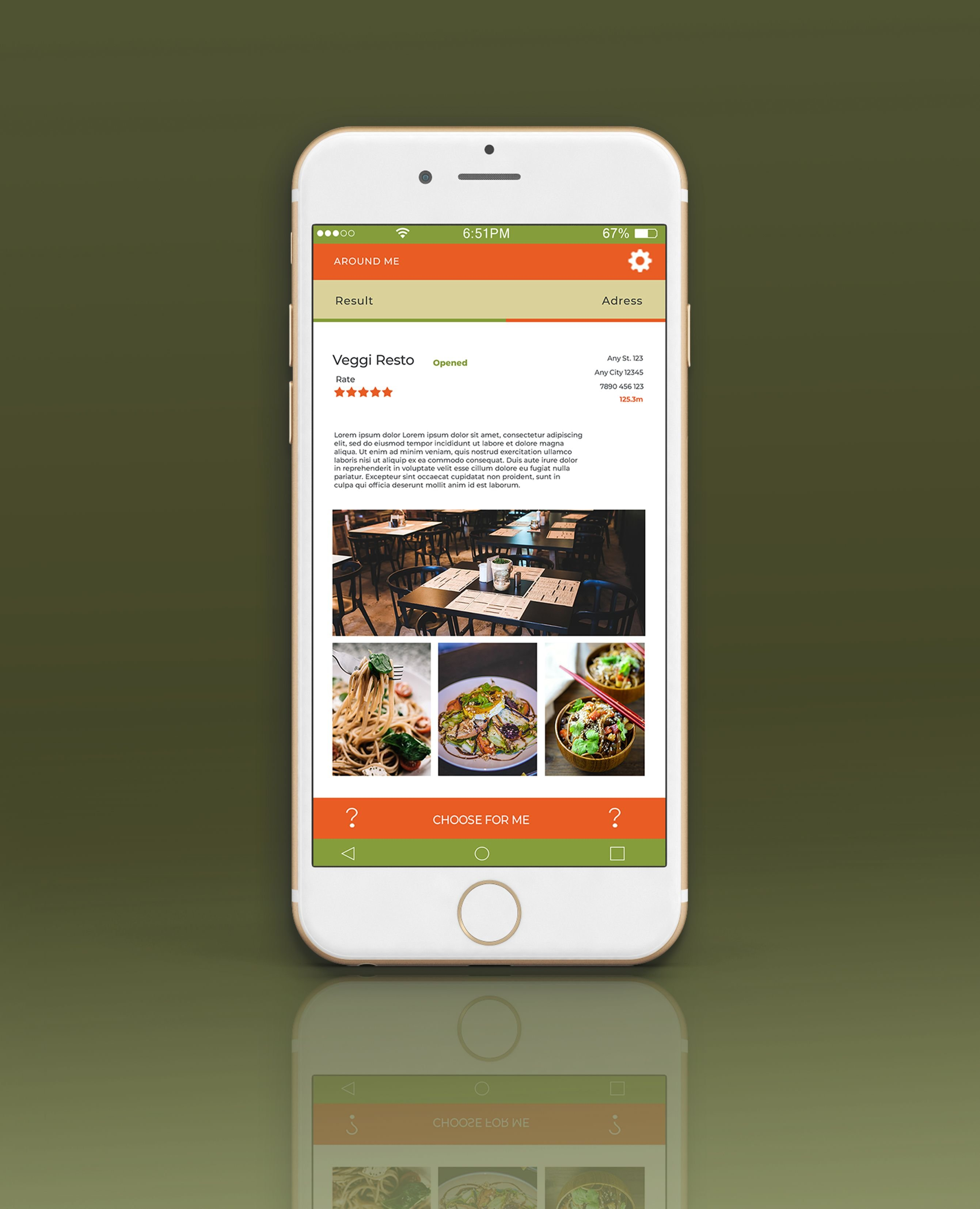 Mobile Vegan Food Finder App - 6  PSD Templates  Screenshot 5