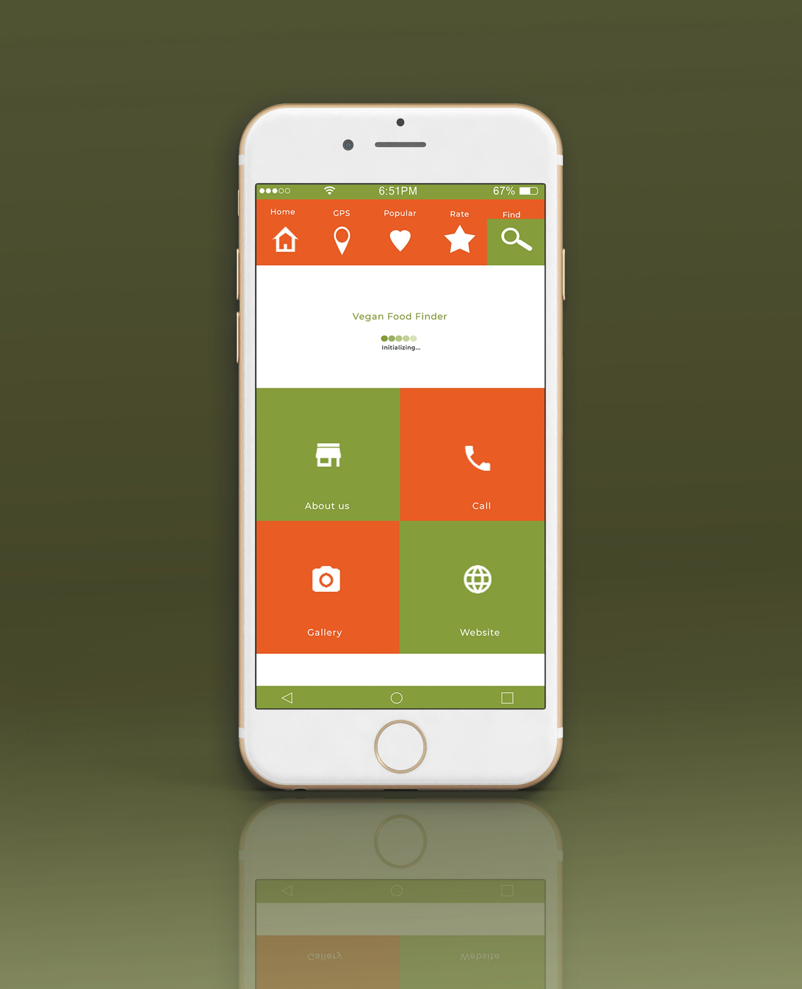 Mobile Vegan Food Finder App - 6  PSD Templates  Screenshot 6