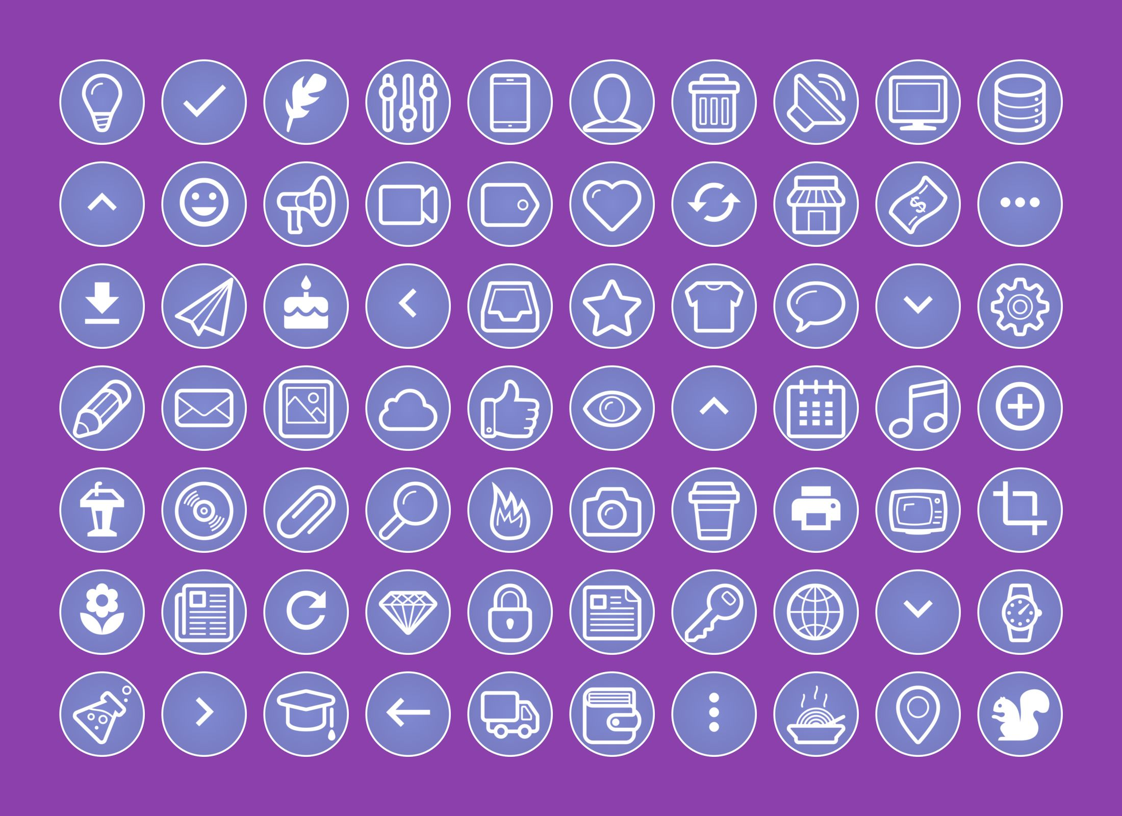 210 Instagram Story Highlights Purple Icons Pack Screenshot 1