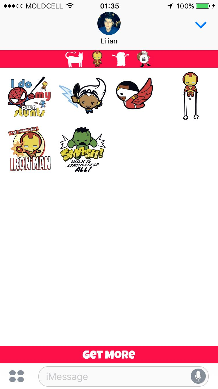iMoji Stickers For iMessage - iOS Source Code Screenshot 7