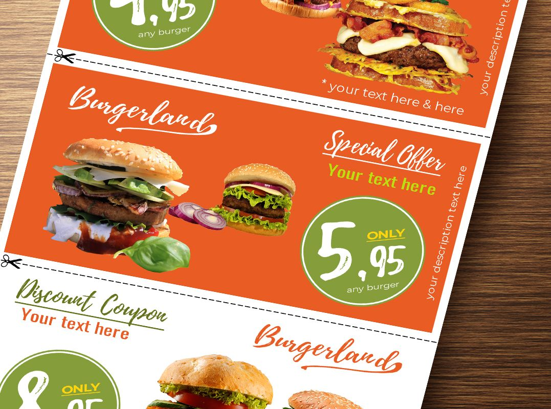 Flyer with 3 Detachable Discount Coupons Screenshot 2