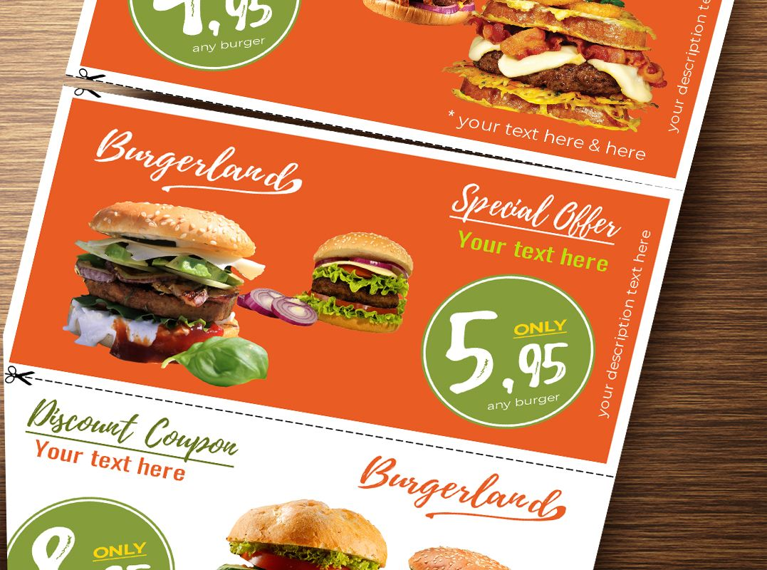 Flyer with 3 Detachable Discount Coupons Screenshot 3