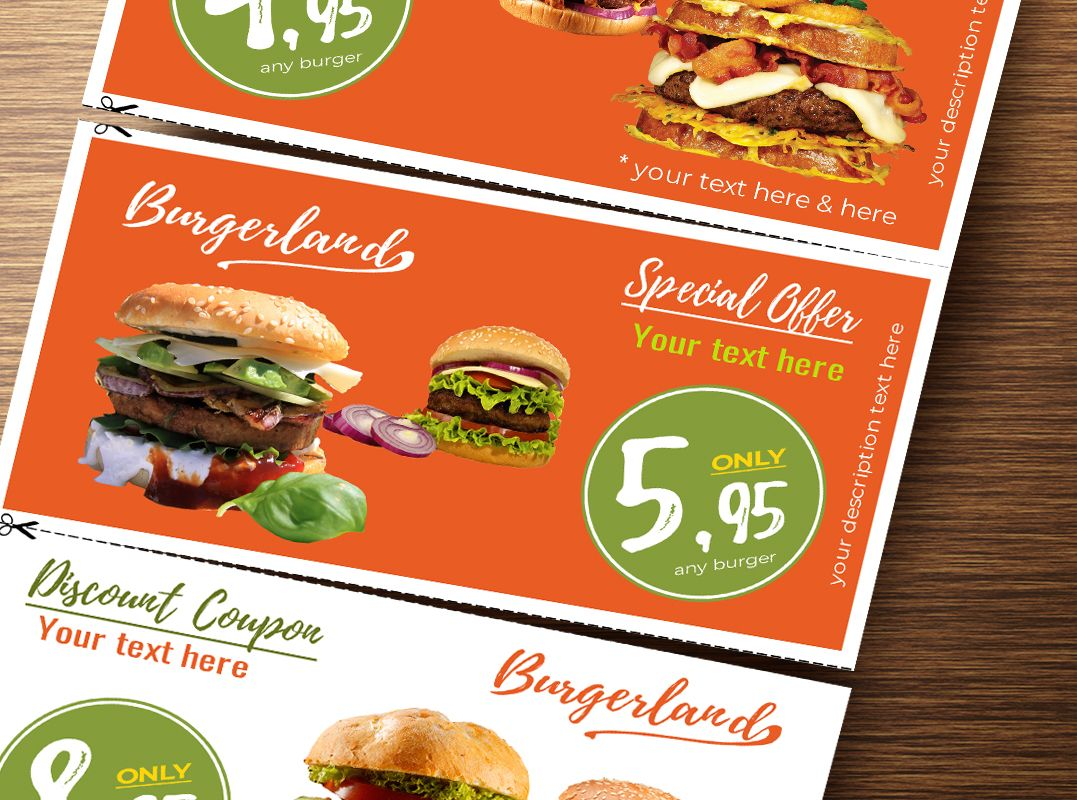 Flyer with 3 Detachable Discount Coupons Screenshot 4