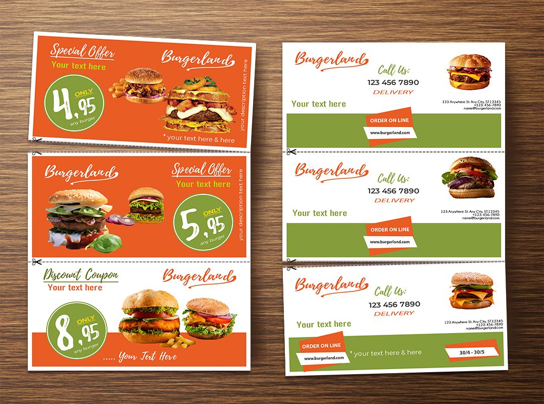 Flyer with 3 Detachable Discount Coupons Screenshot 5