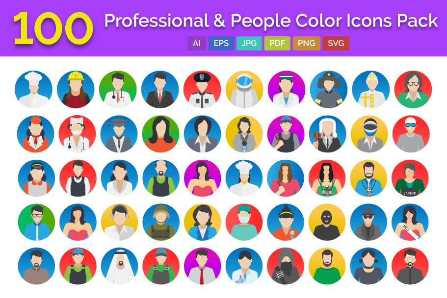 100 Professional And People Icons Pack Screenshot 1
