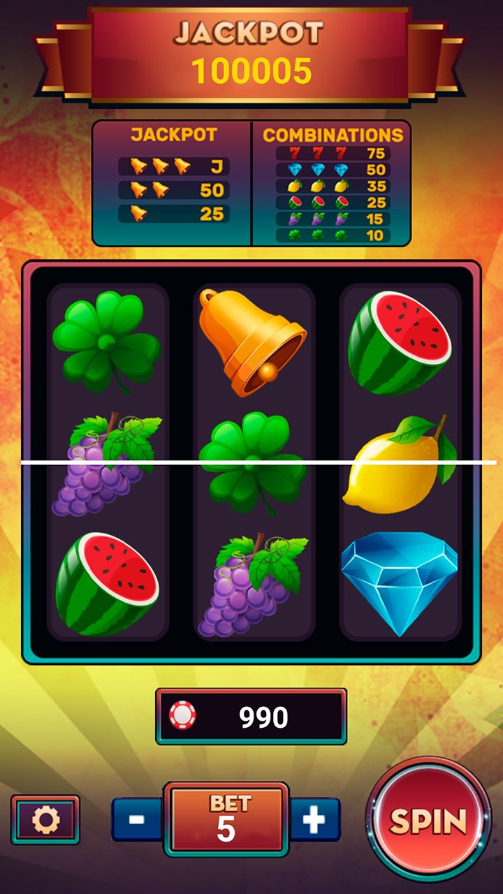 Slot Machine Deluxe with AdMob - Android Studio Screenshot 2