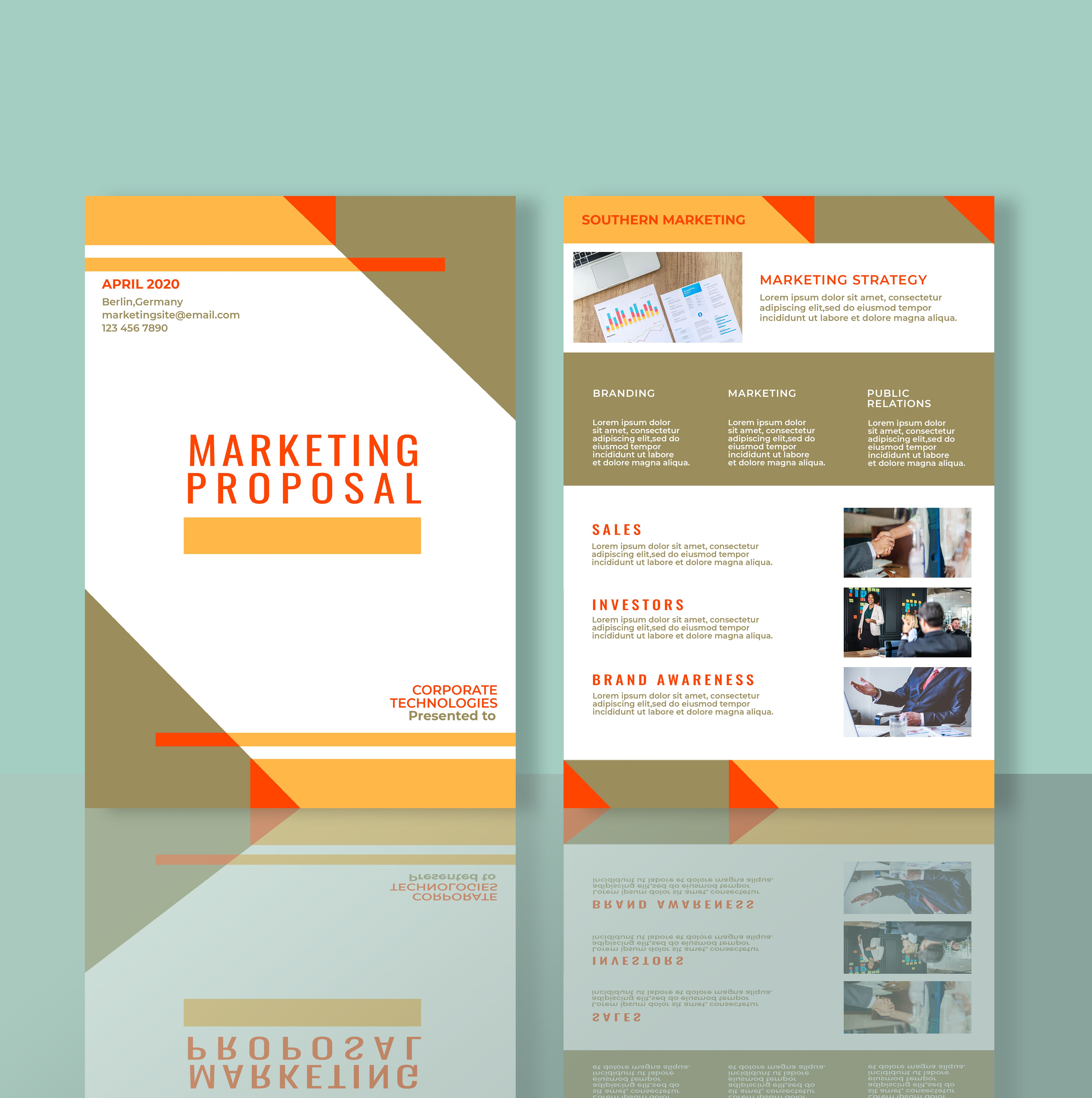 Professional Marketing Flyer 2 Templates A4 Screenshot 1