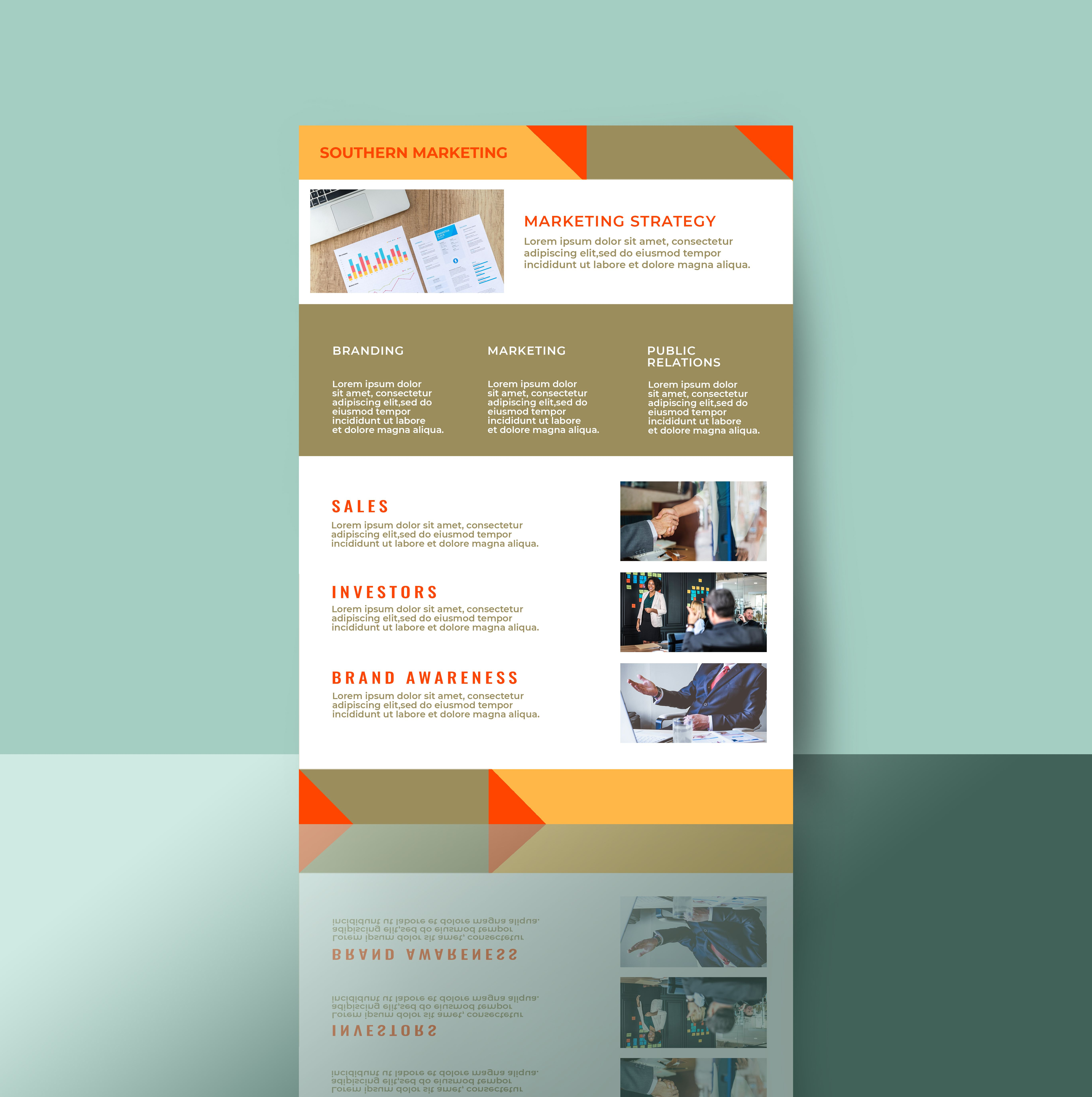Professional Marketing Flyer 2 Templates A4 Screenshot 3