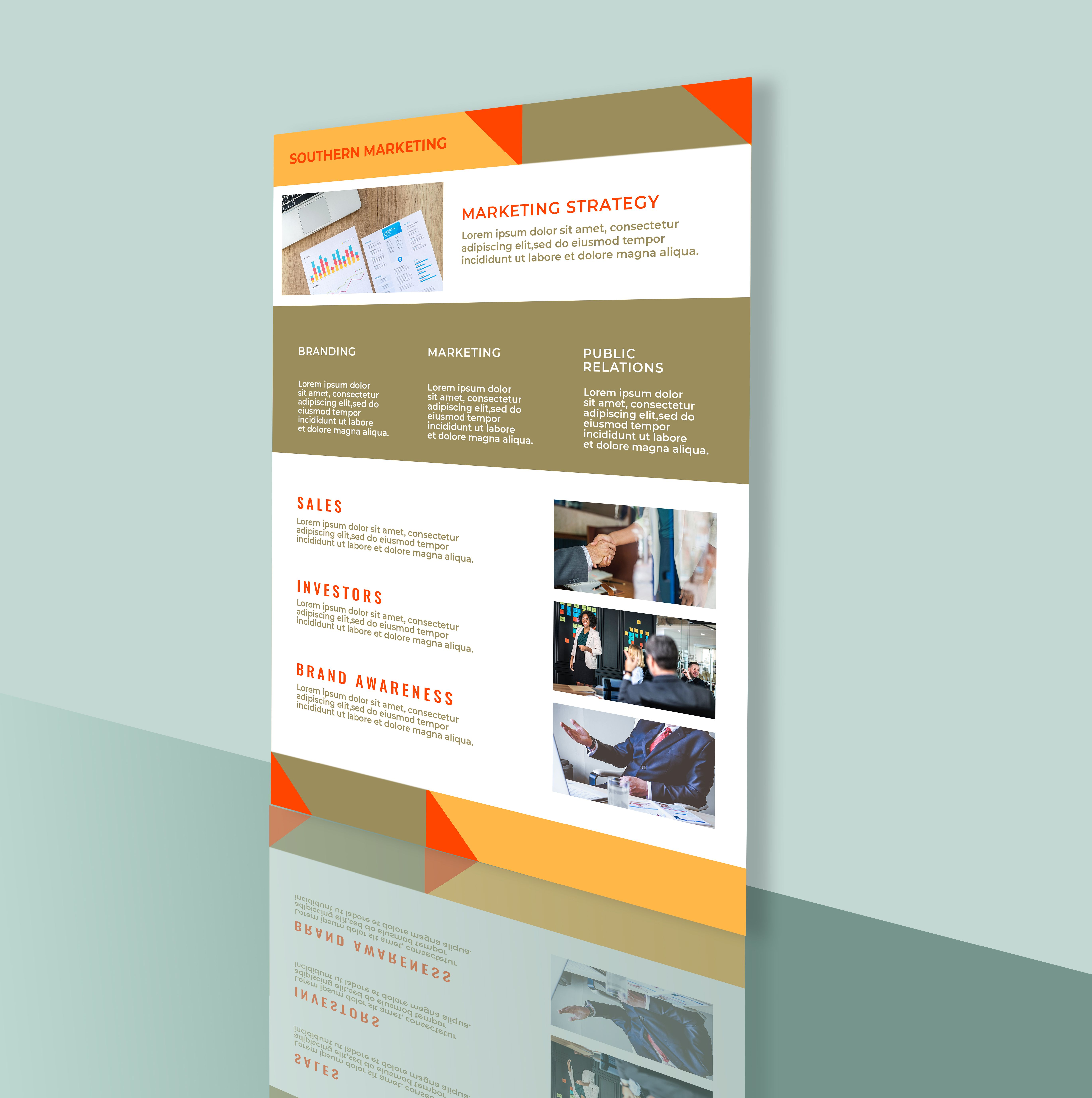 Professional Marketing Flyer 2 Templates A4 Screenshot 4