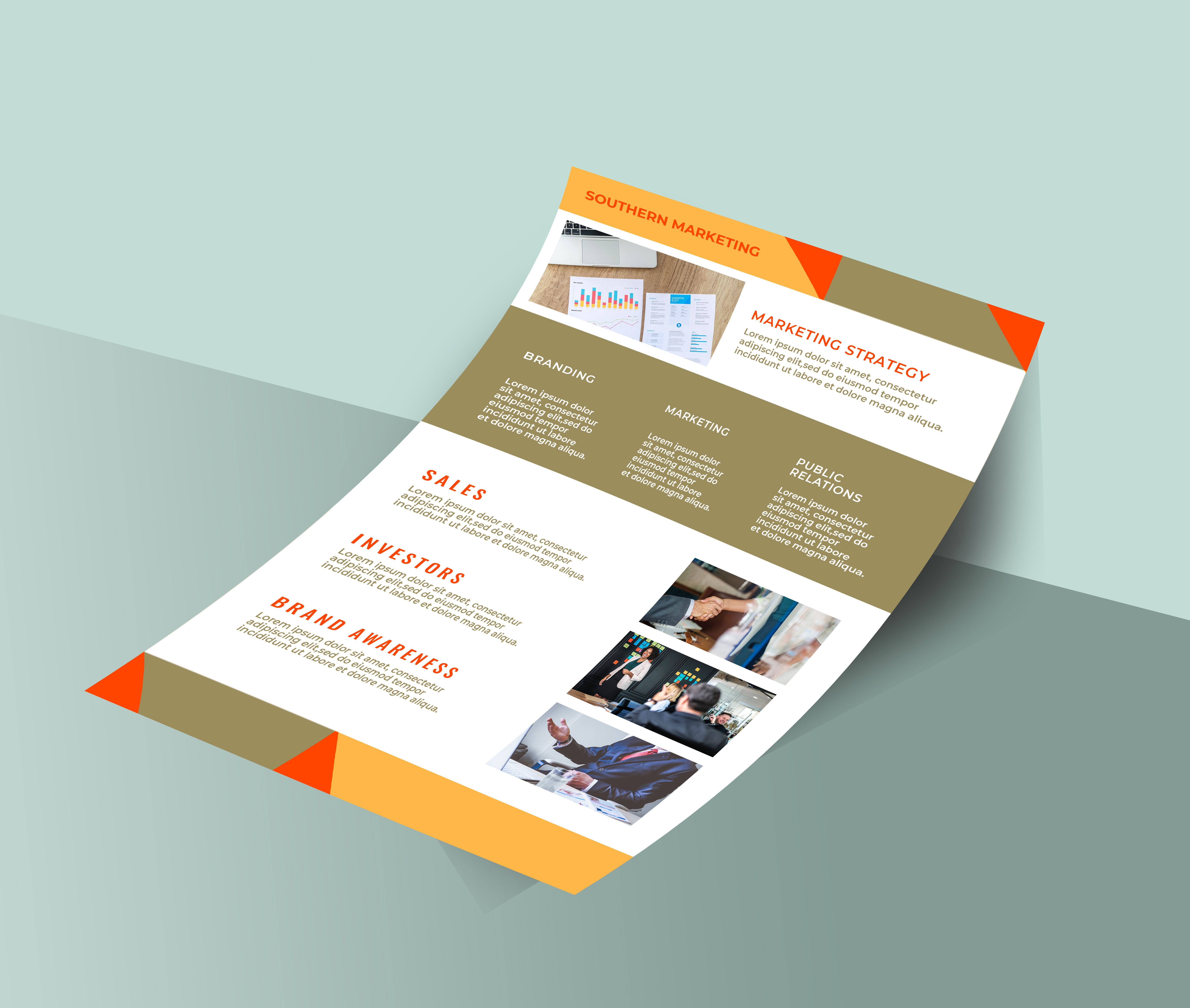 Professional Marketing Flyer 2 Templates A4 Screenshot 7