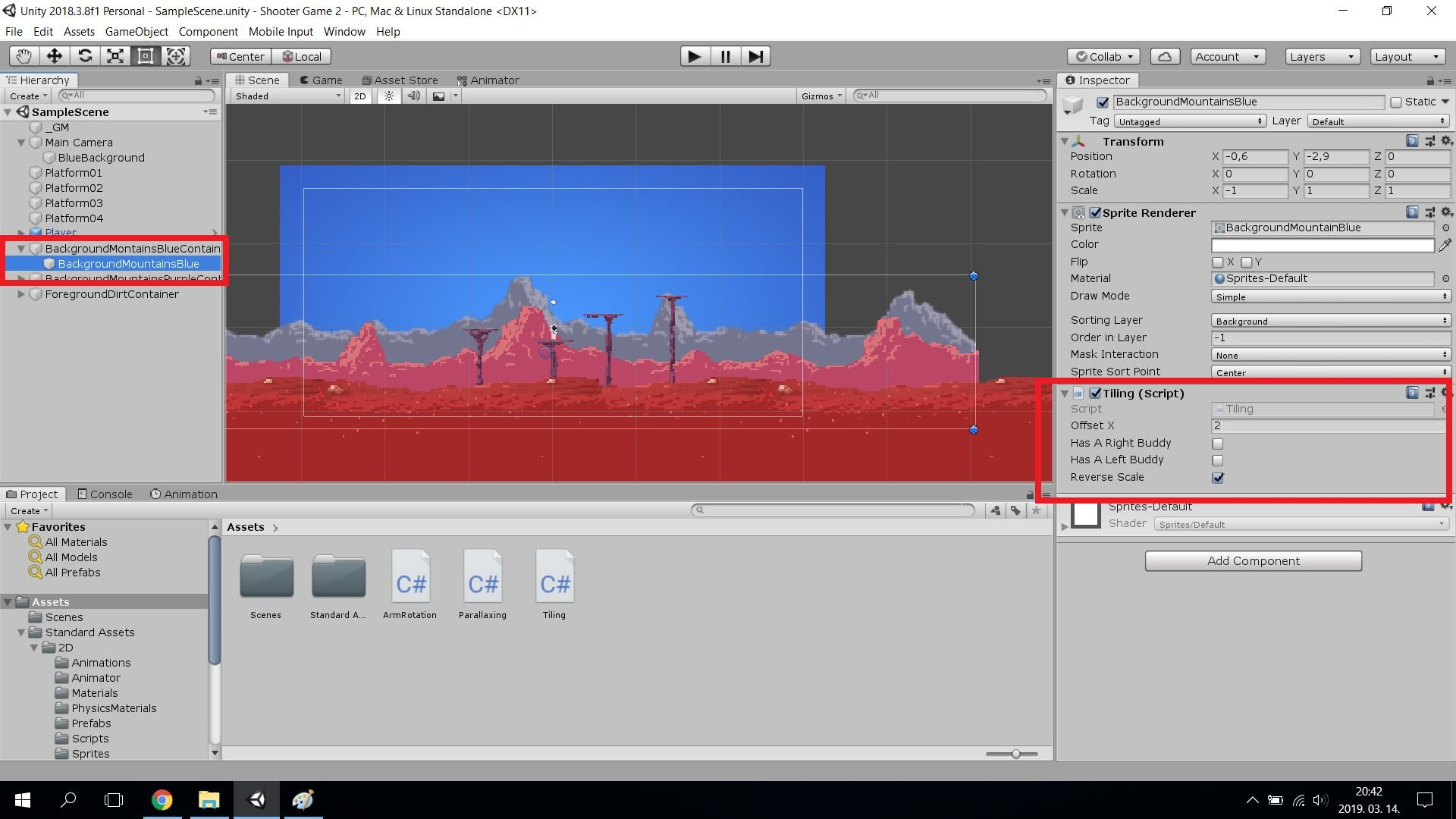 Unity Game 2D Parallaxing - 3 Scripts Screenshot 5