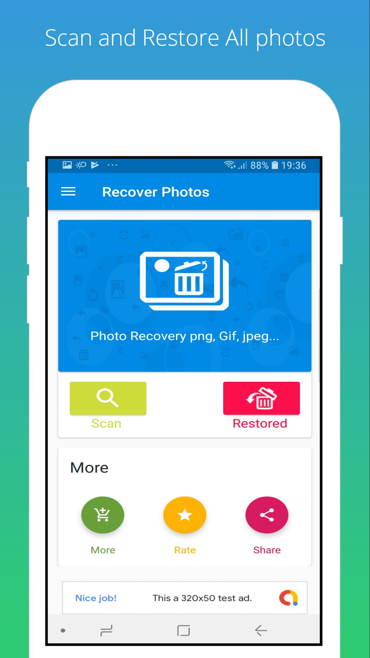 Recover Deleted Photo - Android Source Code Screenshot 1