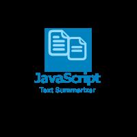 Javascript Text Summarization Module