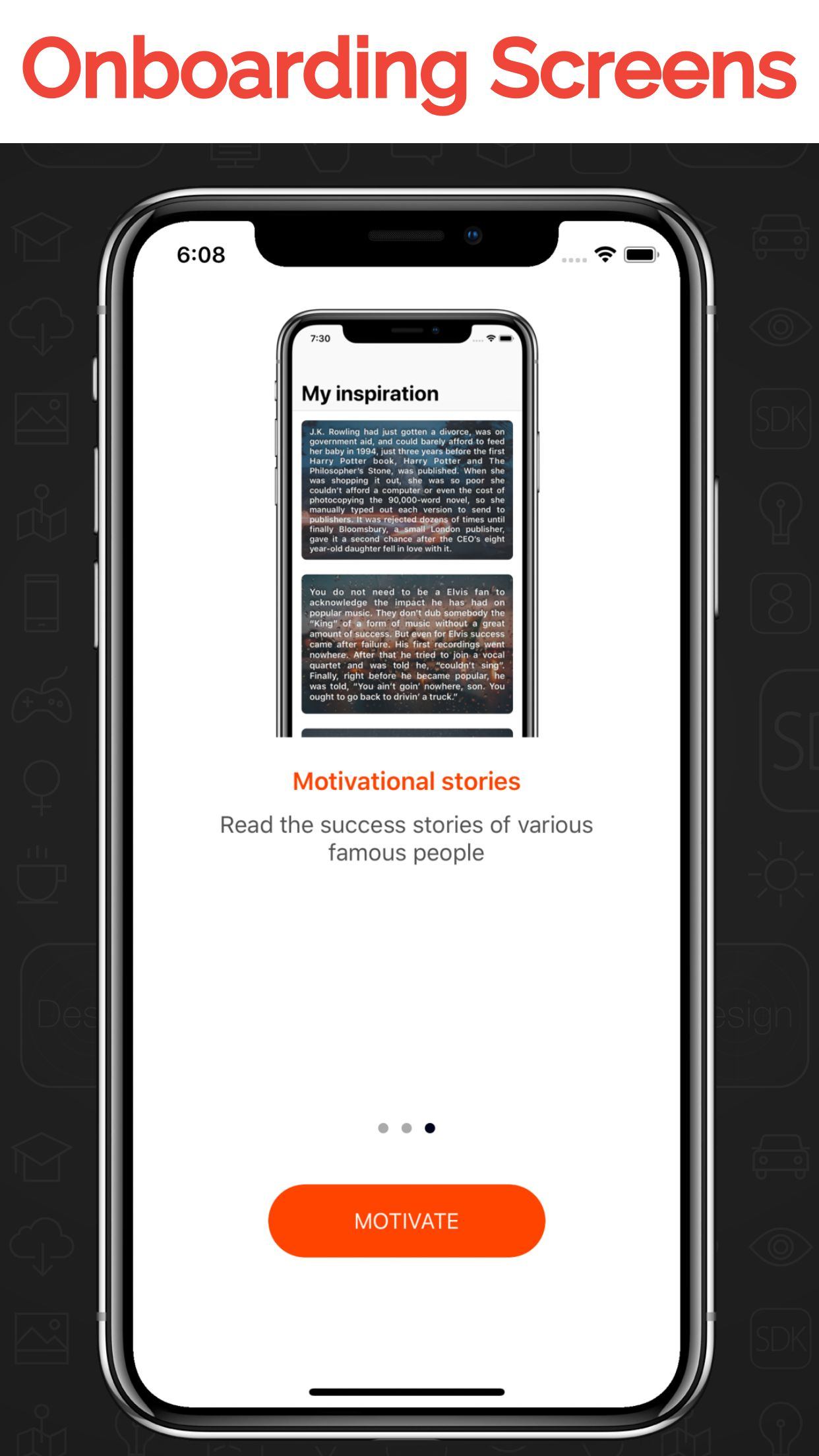 My Inspiration - iOS Stories And Quotes App  Screenshot 2