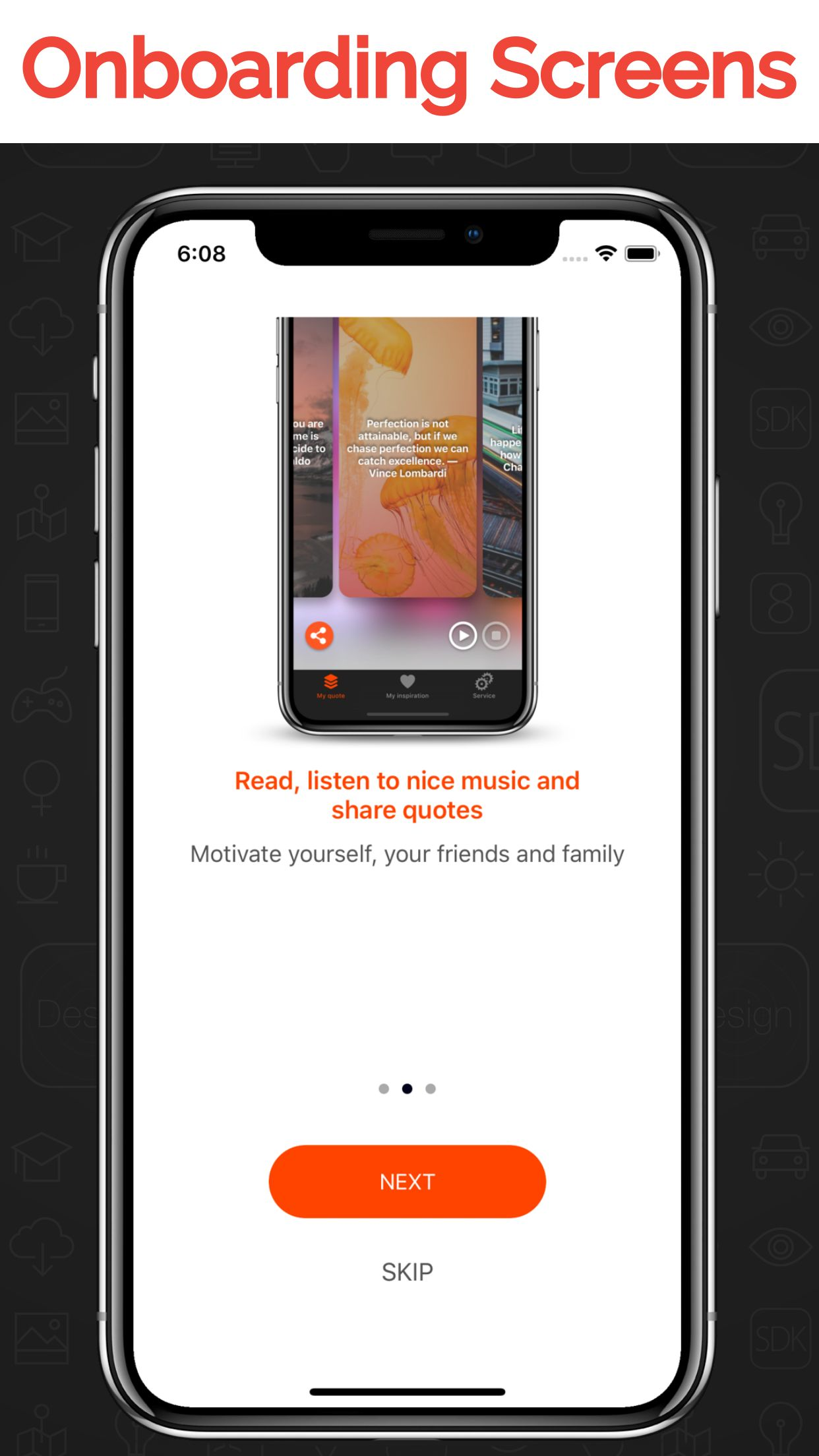 My Inspiration - iOS Stories And Quotes App  Screenshot 10
