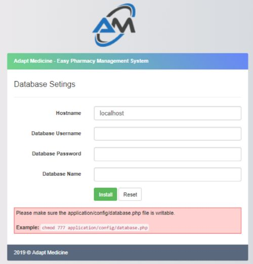 Adapt Medicine - Pharmacy Management System Screenshot 2