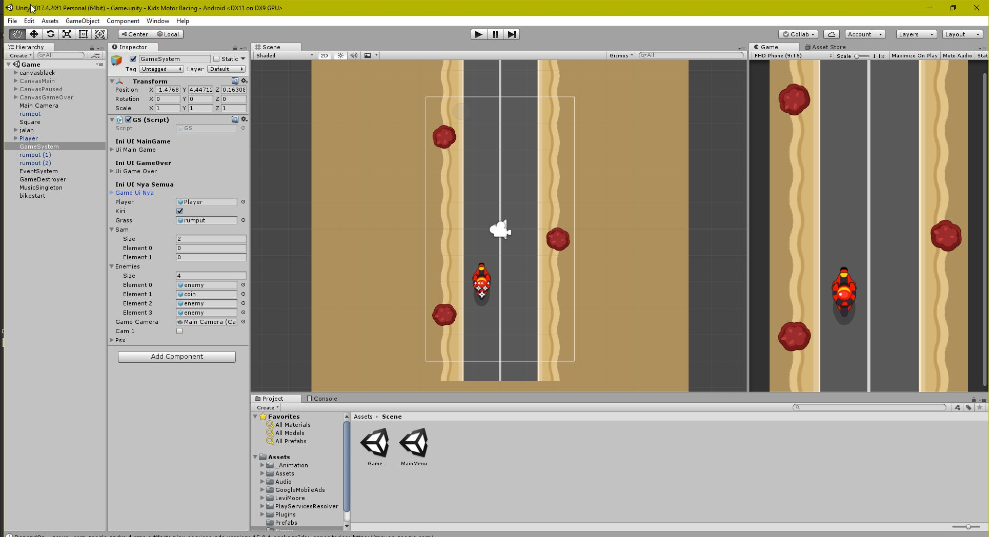 Kids Motor Racing LTS Unity Project Screenshot 4