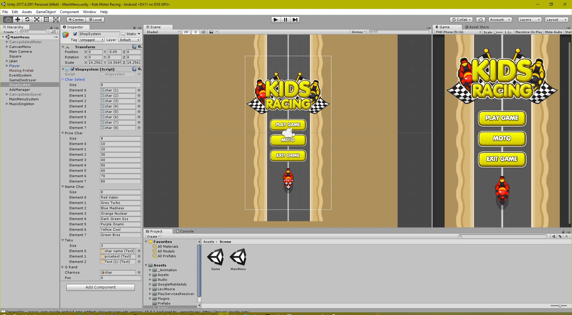 Kids Motor Racing LTS Unity Project Screenshot 5