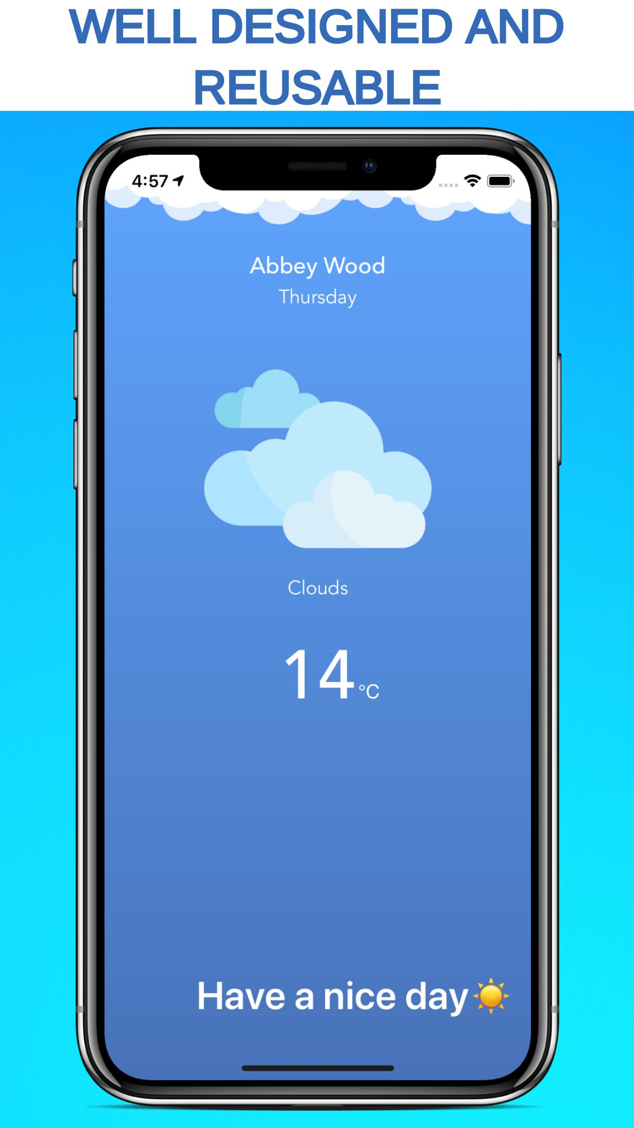 iOS Weather Application Source Code Screenshot 2