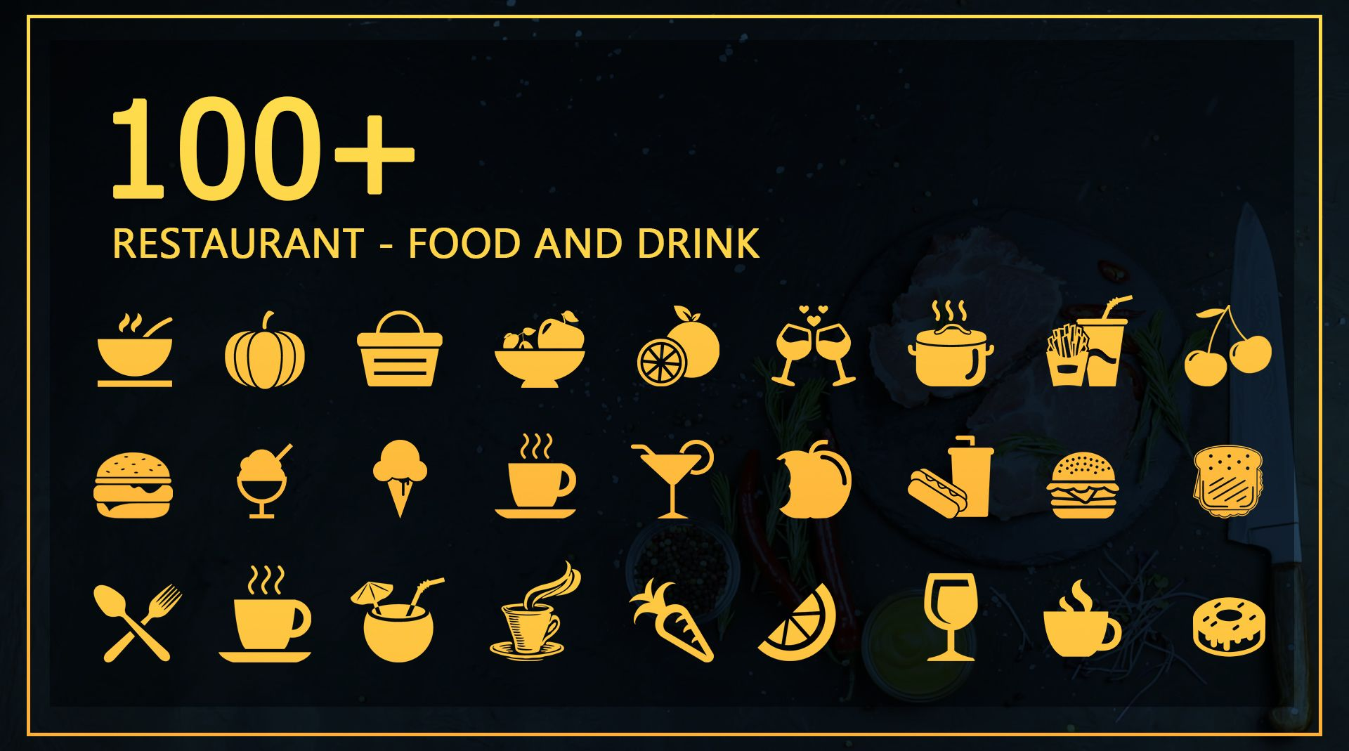 Restaurant Food And Drink - Icon Pack Screenshot 2