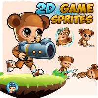 BearBoy 2D Game Sprites