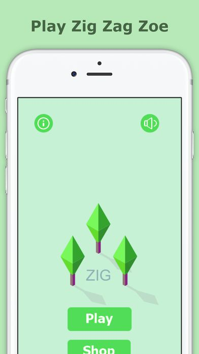 Zig Zag Zoe  - iOS Game Source Code Screenshot 2