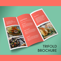 Tri-Fold Restaurent Promotion Brochure -Template