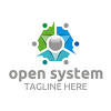 open-system-logo-template