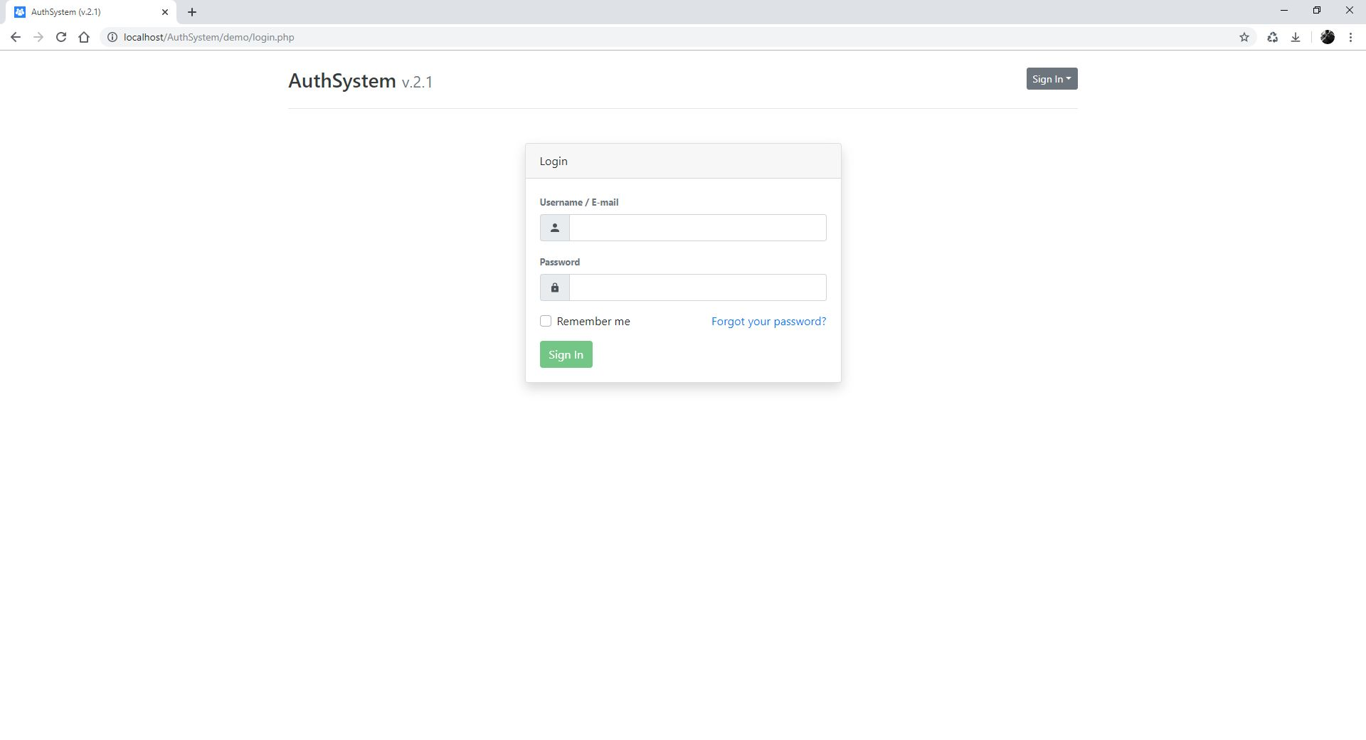Authentication System PHP Screenshot 3