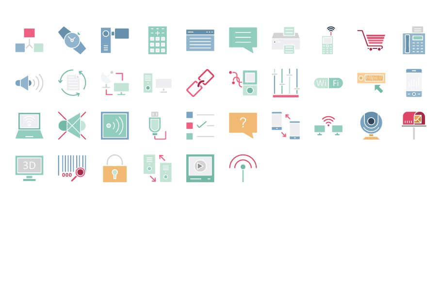600 Communication Vector Icons Pack Screenshot 6