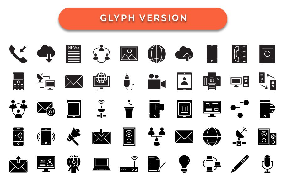 600 Communication Vector Icons Pack Screenshot 7