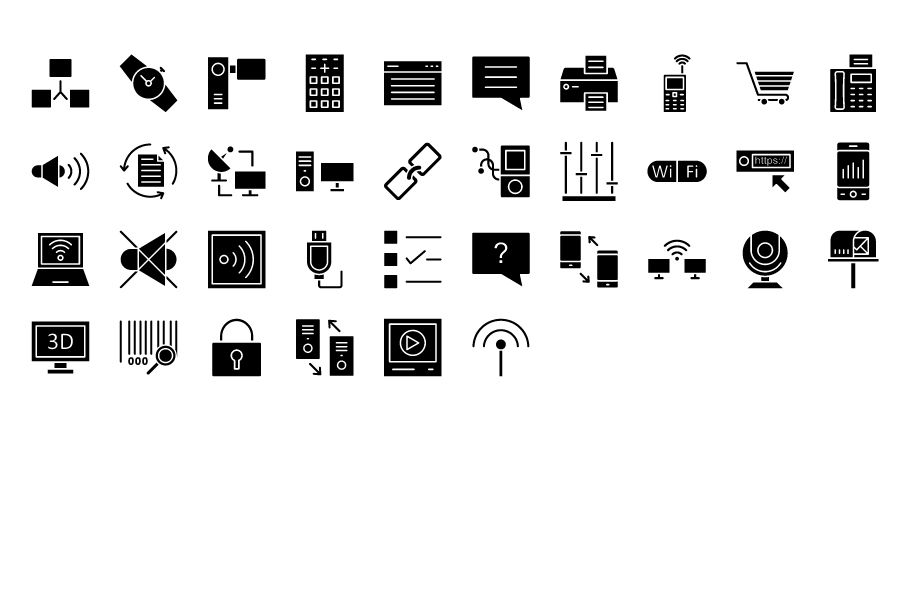 600 Communication Vector Icons Pack Screenshot 9
