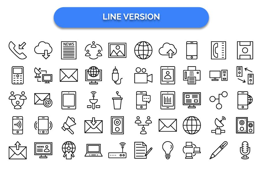 600 Communication Vector Icons Pack Screenshot 10