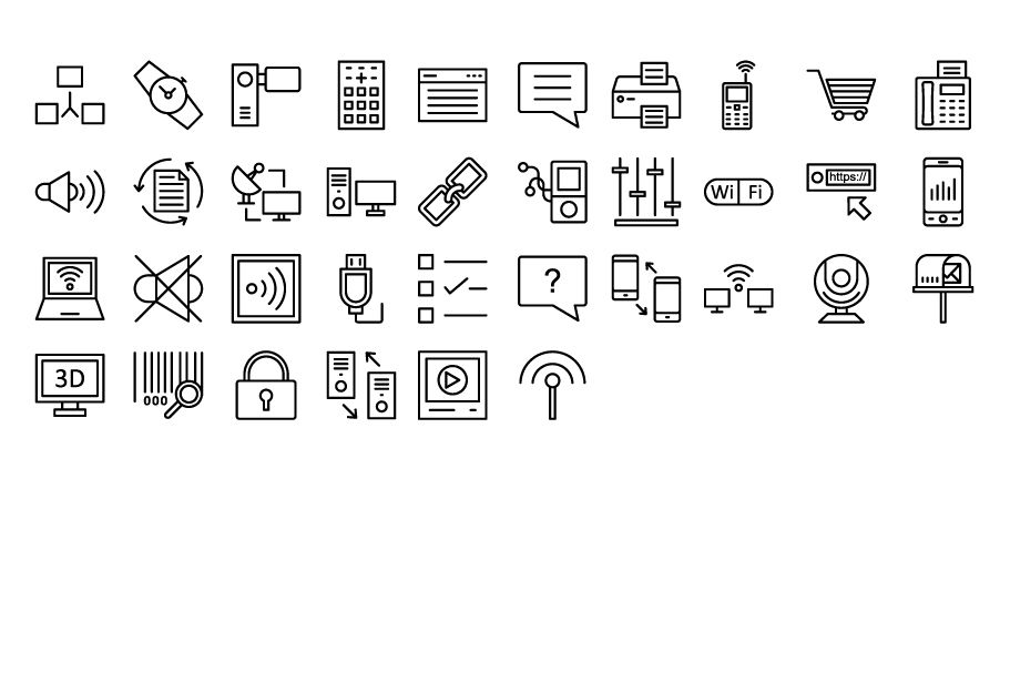 600 Communication Vector Icons Pack Screenshot 12