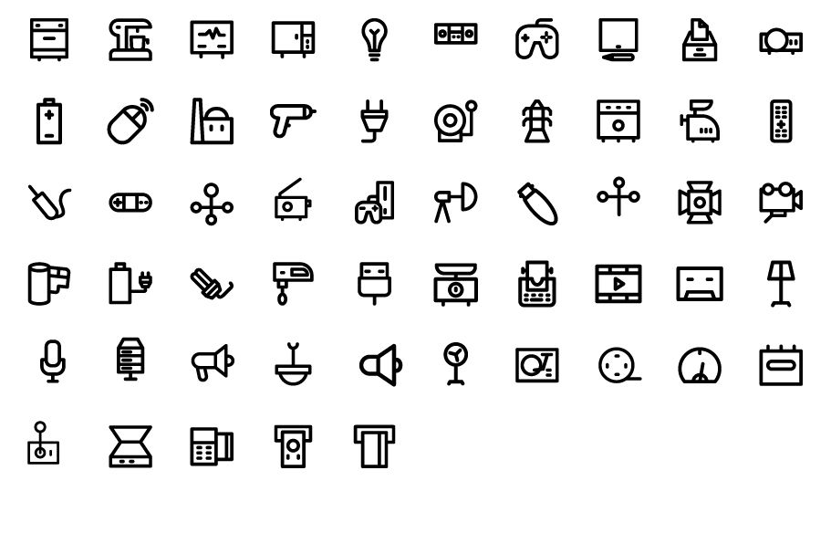 175 Electronics Bold Line Icons Pack Screenshot 3