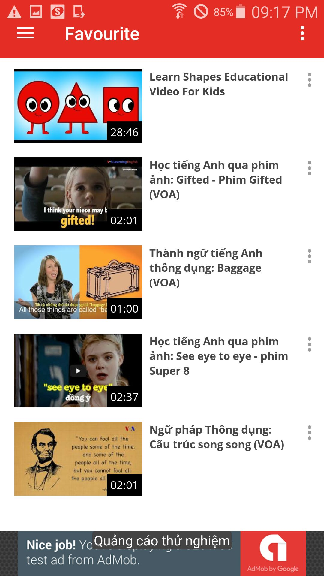 My Youtube Chanel - Android App Template Screenshot 1