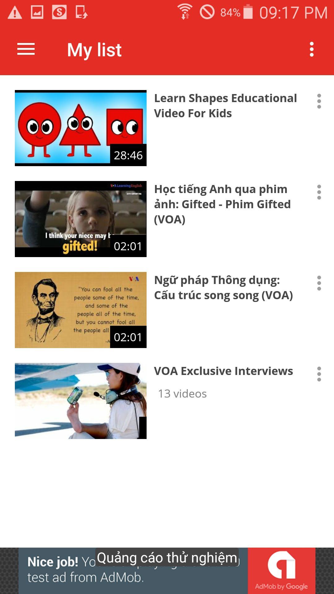 My Youtube Chanel - Android App Template Screenshot 8