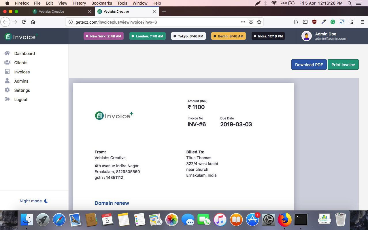 Invoice Plus - Billing Software PHP Screenshot 7