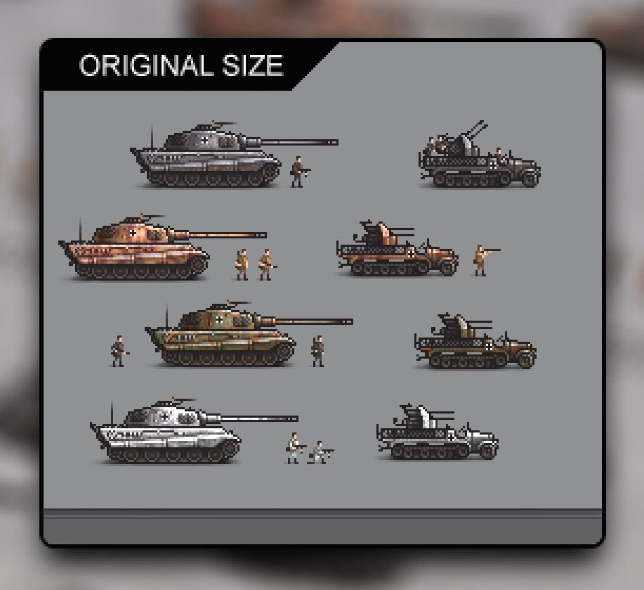 World War 2 German Tanks Sprites Collection Screenshot 2
