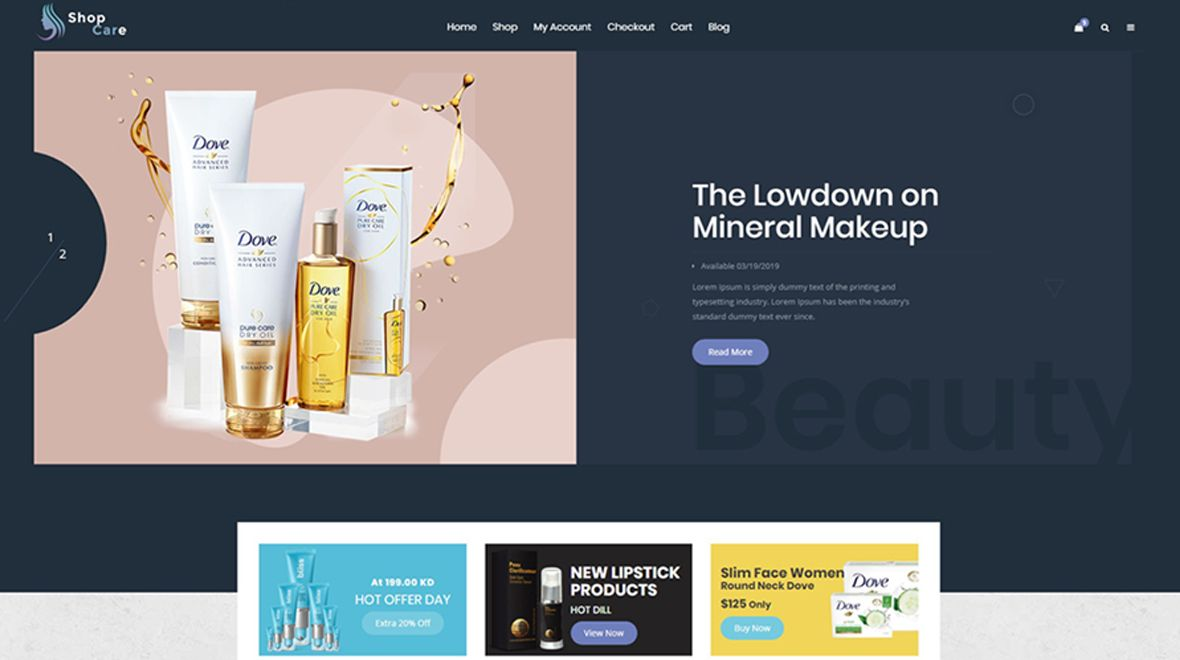 Shopcare - Health And Beauty WooCommerce Theme Screenshot 1