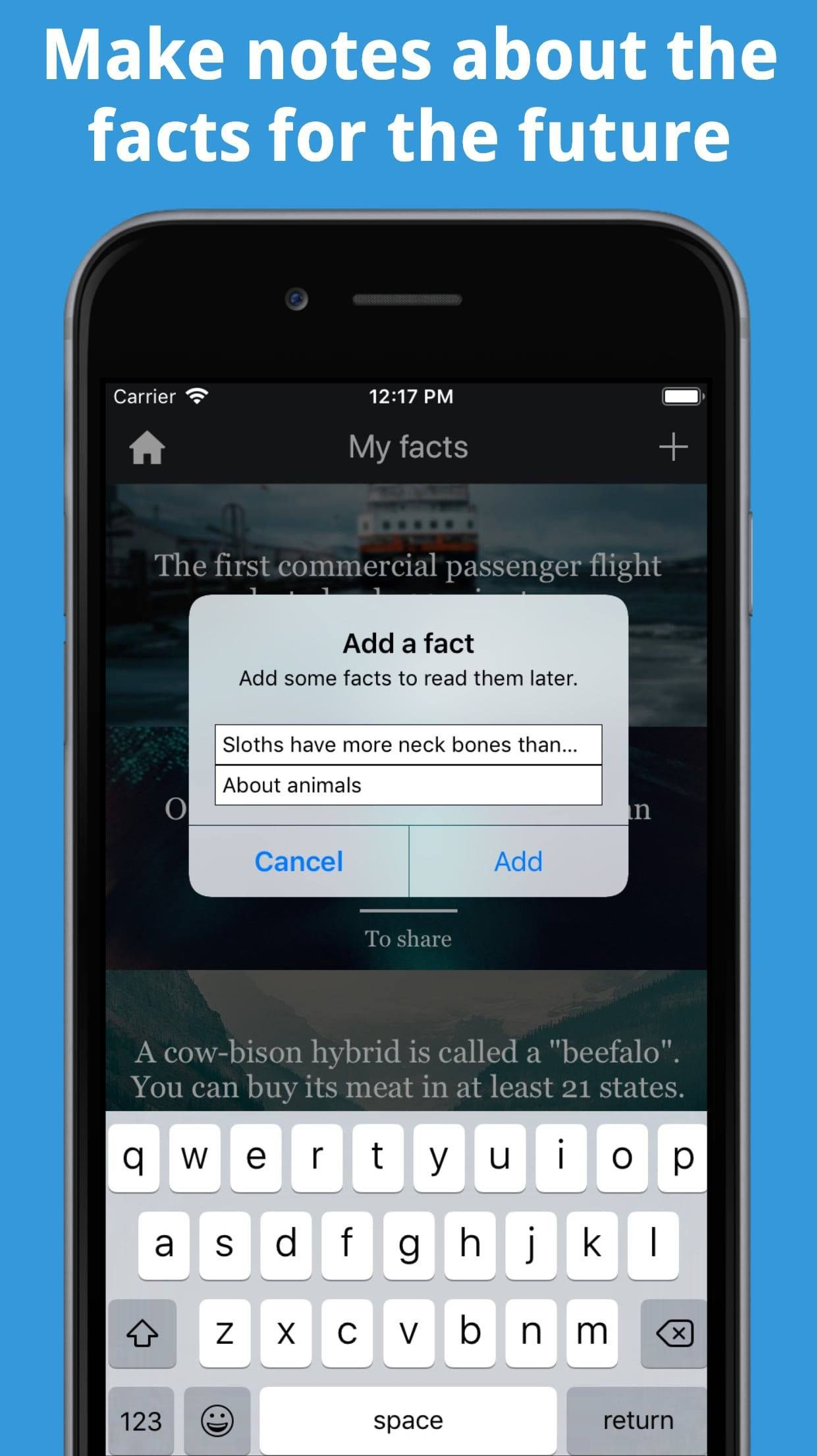 Facts World - iOS Facts and Notes Application Screenshot 6