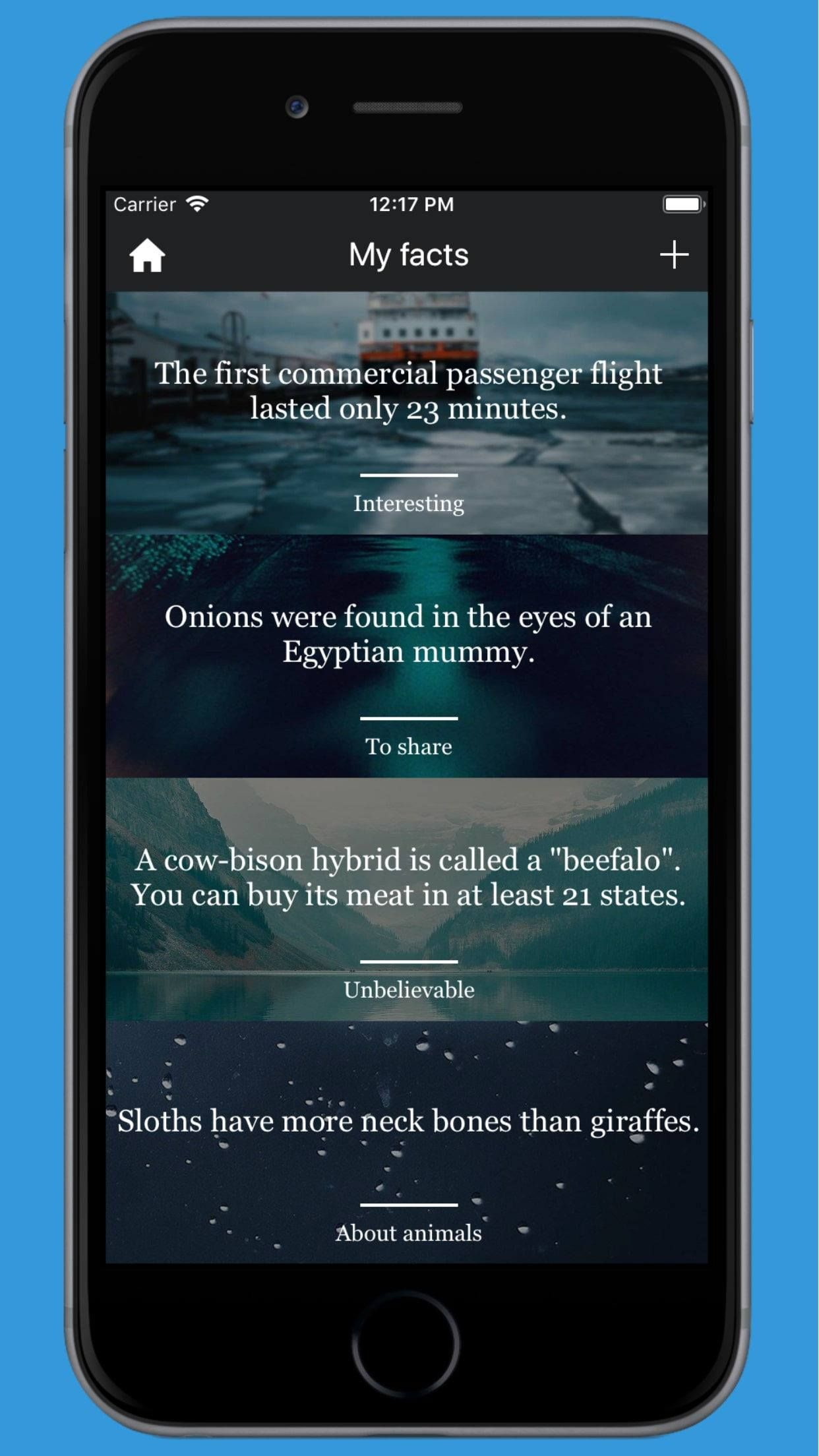 Facts World - iOS Facts and Notes Application Screenshot 7