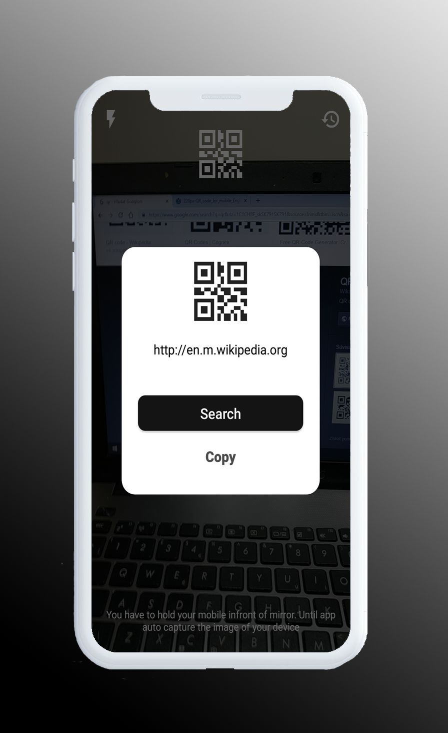 QR Scanner - Simple And Minimal Android App Screenshot 1