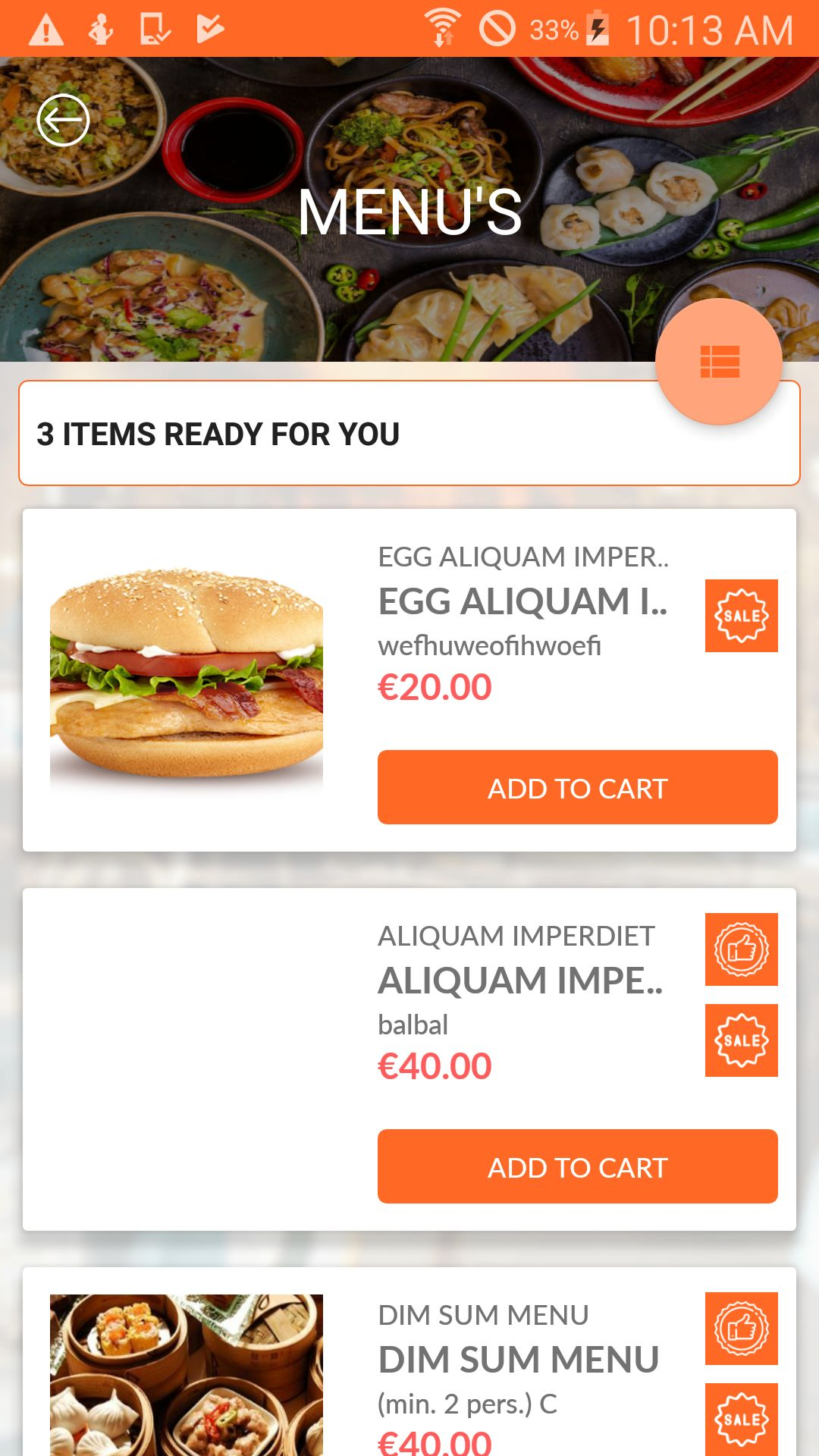 Restaurant Fastfood - Android App Source Code Screenshot 1