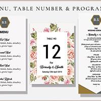 Elegant Wedding Preparation Cards