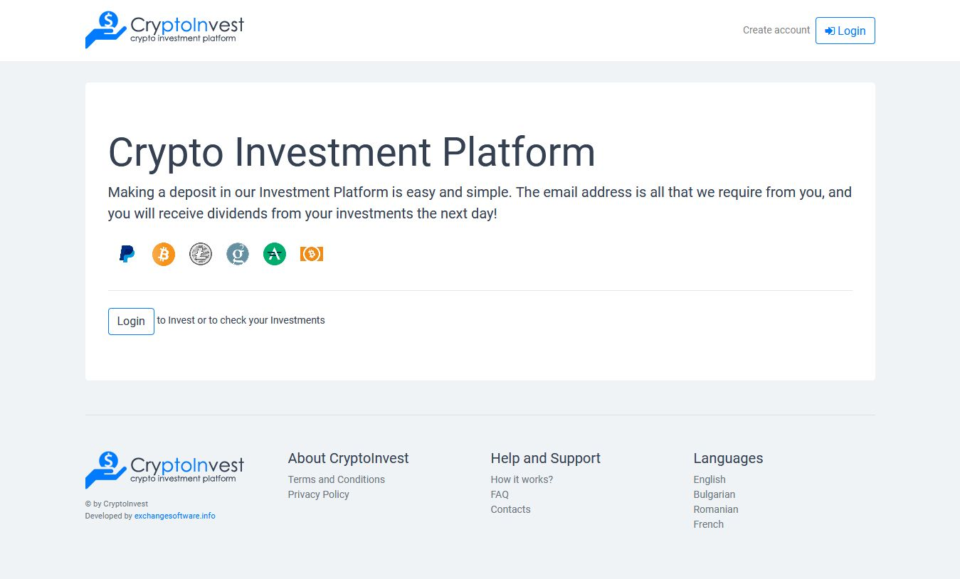 CryptoInvest - Crypto Investment Platform Script Screenshot 5