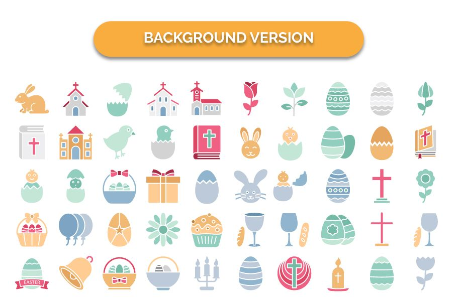 900 Easter Celebration Isolated Vector set Screenshot 8